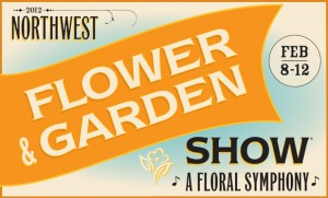 "NW flower and garden show logo ""A floral Symphony"""