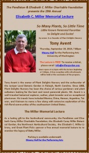 Tony Avent - Miller Lecture